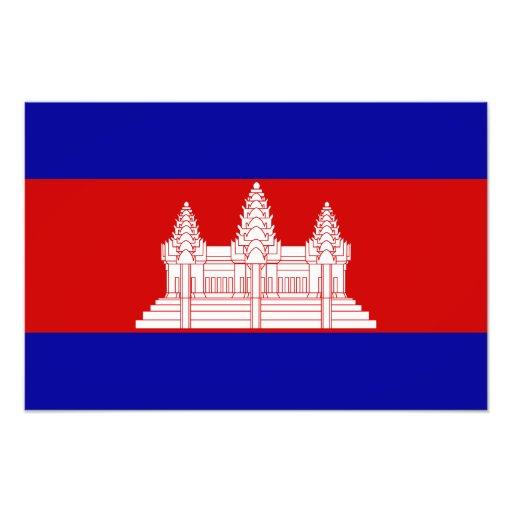 Camboya - bandera camboyana arte fotografico