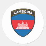 Camboya Etiqueta Redonda