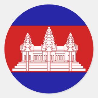 Camboya Pegatina Redonda
