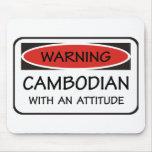 Camboyano con una actitud alfombrilla de ratón