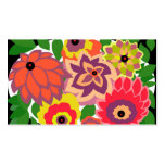 CAMBRIA, ART DECO FLORALS: TROPICANA Double-Sided STANDARD BUSINESS CARDS (Pack OF 100)