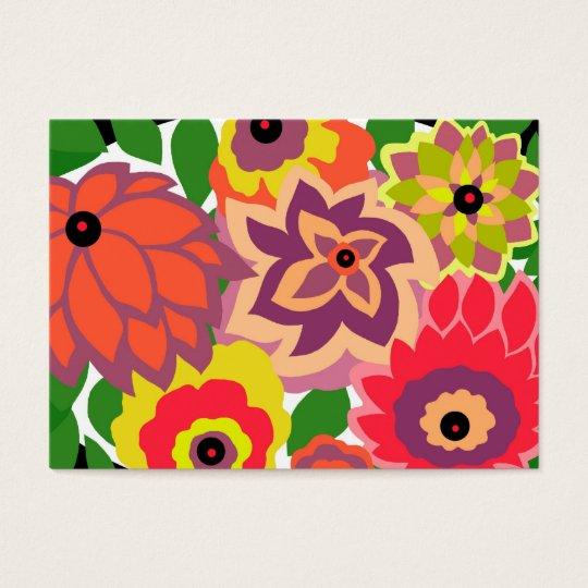 CAMBRIA, ART DECO FLORALS: TROPICANA BUSINESS CARD