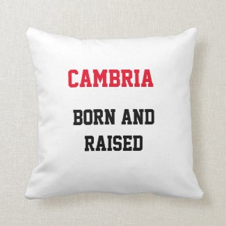 Cambria Born and Raised Throw Pillow