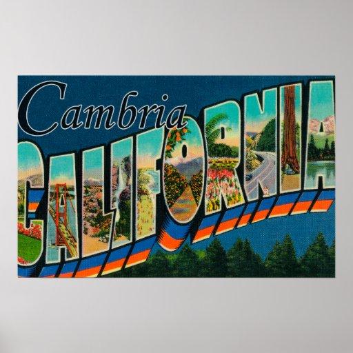 Cambria, California - escenas grandes de la letra Póster
