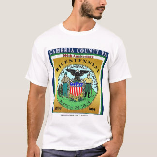 Cambria County Bicentennial, Color Blocked T-Shirt