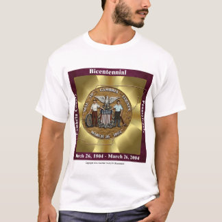Cambria County Bicentennial Golden Bow T-Shirt