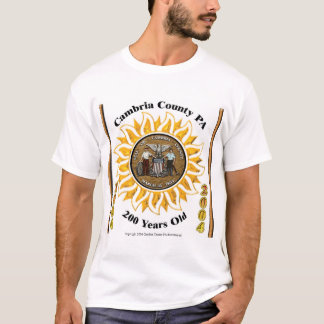 Cambria County PA, Golden Sun T-Shirt