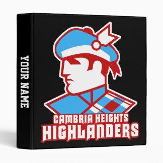 Cambria Heights Highlander Logo Design 3 Ring Binder