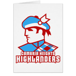 Cambria Heights Highlander Logo Design Card