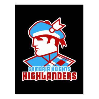 Cambria Heights Highlander Logo Design Postcard