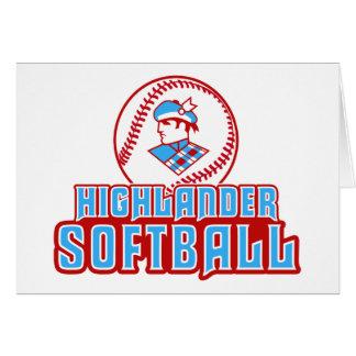Cambria Heights Highlander Softball Design Card
