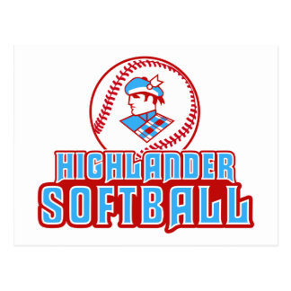 Cambria Heights Highlander Softball Design Postcard