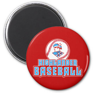 Cambria Heights Highlanders Baseball Design 2 Inch Round Magnet