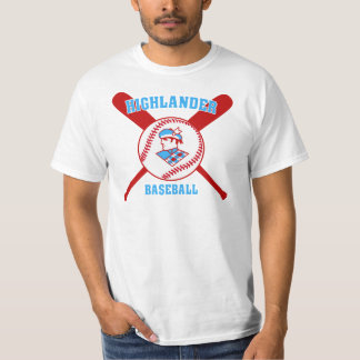 Cambria Heights Highlanders BaseBall Design T-Shirt
