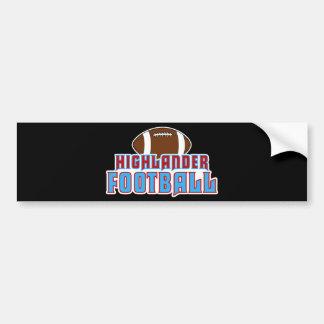 Cambria Heights Highlanders Football Design Bumper Sticker