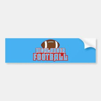 Cambria Heights Highlanders Football Design Car Bumper Sticker