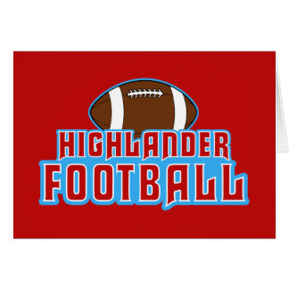 Cambria Heights Highlanders Football Design Card