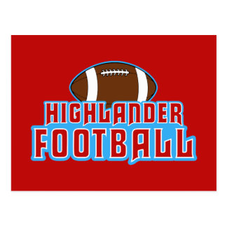 Cambria Heights Highlanders Football Design Postcard