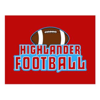 Cambria Heights Highlanders Football Design Postcard