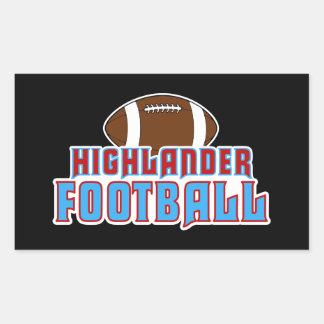 Cambria Heights Highlanders Football Design Rectangular Sticker
