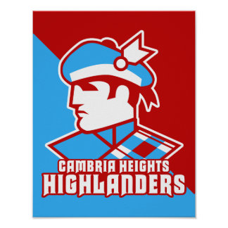 Cambria Heights Highlanders Logo Design Poster