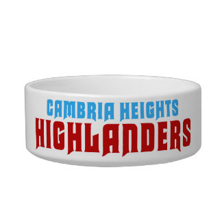 Cambria Heights Highlanders Text Design Bowl