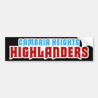 Cambria Heights Text Logo Design Car Bumper Sticker