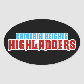 Cambria Heights Text Logo Design Oval Sticker