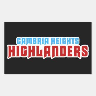 Cambria Heights Text Logo Design Rectangular Sticker