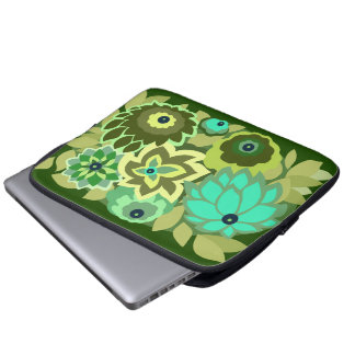 CAMBRIA in Shades of Green Laptop Computer Sleeve