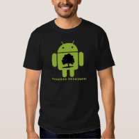 Cambrian Explosion (Bug Droid Oak Tree Silhouette) T-shirts
