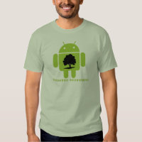 Cambrian Explosion (Bug Droid Oak Tree Silhouette) Tee Shirts