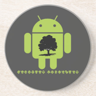 Cambrian Explosion (Oak Tree On Bug Droid) Drink Coaster