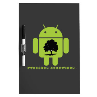 Cambrian Explosion (Oak Tree On Bug Droid) Dry Erase Board