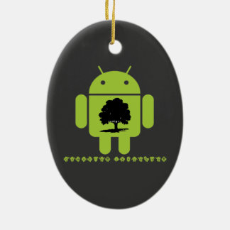 Cambrian Explosion (Oak Tree On Bug Droid) Christmas Tree Ornaments