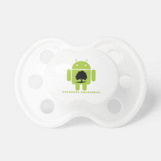 Cambrian Explosion (Oak Tree On Bug Droid) Pacifier