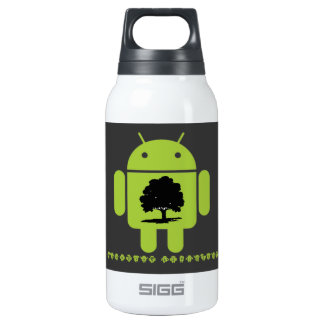 Cambrian Explosion (Oak Tree On Bug Droid) Thermos Water Bottle
