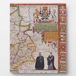 Cambridge Antique Map Display Plaques
