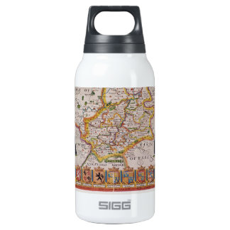 Cambridge Antique Map Insulated Water Bottle