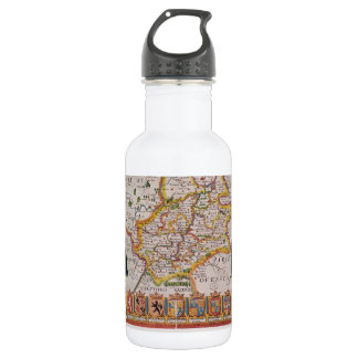 Cambridge Antique Map Stainless Steel Water Bottle