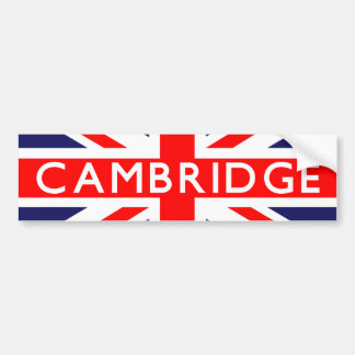 Cambridge : British Flag Bumper Sticker