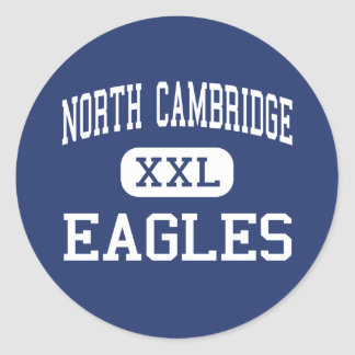 Cambridge del norte - Eagles - católico - Pegatina Redonda