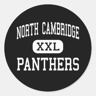 Cambridge del norte - panteras - Cambridge del Pegatina Redonda