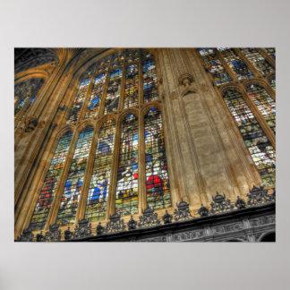 ~ Cambridge, Inglaterra de College Chapel de rey Póster