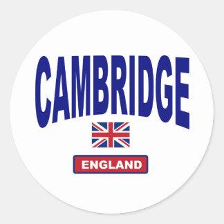 Cambridge Inglaterra Pegatina Redonda