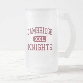 Cambridge - Knights - Continuation - Coalinga 16 Oz Frosted Glass Beer Mug