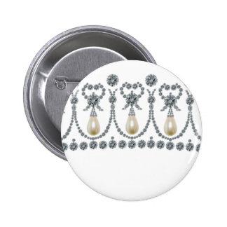 Cambridge Lovers Knot Tiara Pinback Button