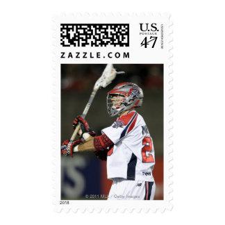 CAMBRIDGE, MA - AUGUST 13:  J.J. Morrissey #29 2 Postage Stamp
