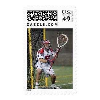 CAMBRIDGE, MA - AUGUST 13:  Jordan Burke #5 3 Postage Stamps