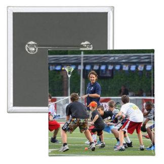 CAMBRIDGE, MA - JULY 08:  Major League Lacrosse Button